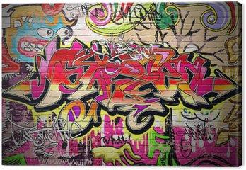 Tableau sur Toile Contexte Graffiti Art Vecteur