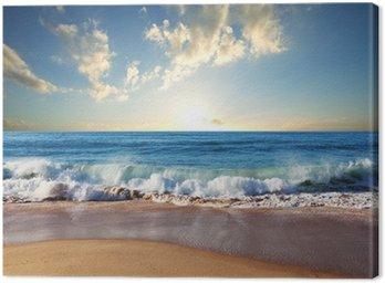 Tableau sur Toile Coucher de soleil à la plage