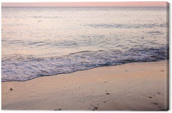 Tableau sur Toile Coucher de soleil sur la plage