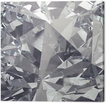 Tableau sur Toile Cristal facette fond