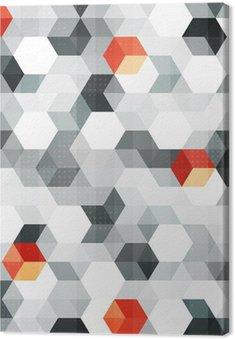 Tableau sur Toile Cubes abstraits seamless, avec effet grunge