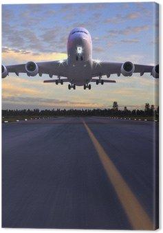 Tableau sur Toile D'atterrissage d'avion Illustration 3D