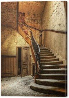 Tableau sur Toile Décomposition escalier dans un bureau central abandonné