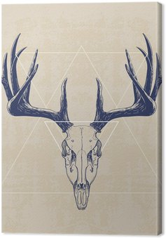 Tableau sur Toile deer skull