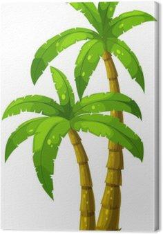 Tableau sur Toile Deux palmiers