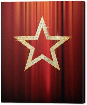 Tableau sur Toile Diamant étoile d'or