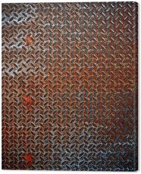 Tableau sur Toile Diamant rouillé fond de métal