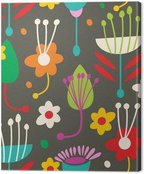 Tableau sur Toile Doodle motif floral