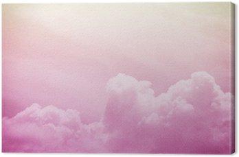 Tableau sur Toile Doux nuage artistique et le ciel avec papier grunge texture