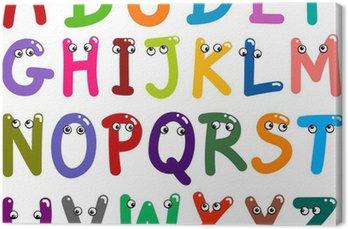 Tableau sur Toile Drôle Capital Lettres