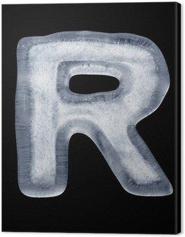 Tableau sur Toile Eis Buchstabe R