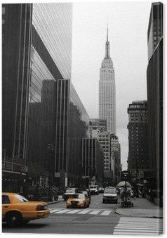 Tableau sur Toile Emipre State Building et le jaune, Manhattan, New York