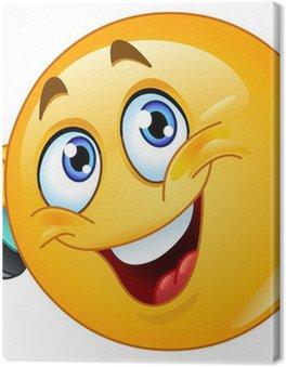 Tableau sur Toile Emoticon avec le téléphone cellulaire
