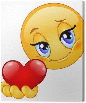 Tableau sur Toile Emoticon donnant cœur