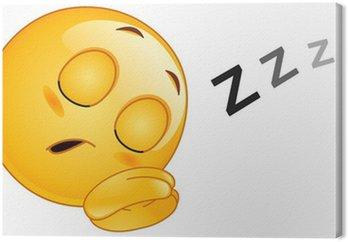 Tableau sur Toile Émoticône dormir