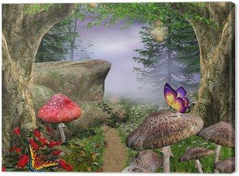 Tableau sur Toile Enchanted nature series - voie enchantée