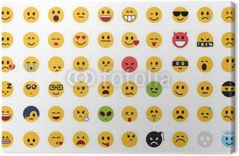 Tableau sur Toile Ensemble complet emoji plat