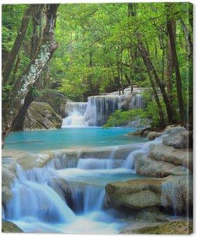 Tableau sur Toile Erawan Waterfall, Kanchanaburi, Thaïlande