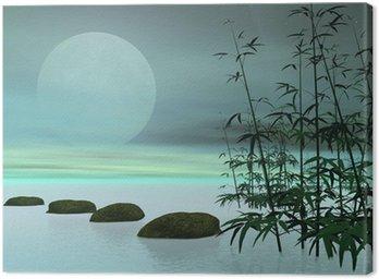 Tableau sur Toile Étapes asiatiques vers la lune - Rendu 3D