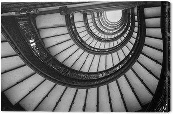 Tableau sur Toile Faible angle de vue de l'escalier en spirale, Chicago, Cook County, Illino