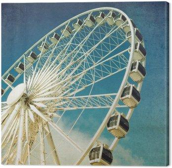 Tableau sur Toile Ferris rétro de roue
