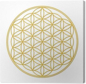 Tableau sur Toile Fleur de vie à l'ombre de l'or