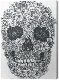 Tableau sur Toile Fleur Vecteur de crâne