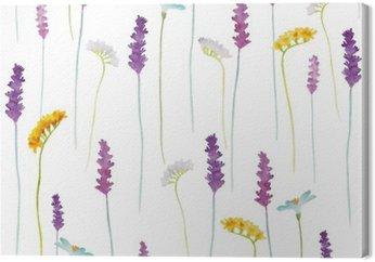 Tableau sur Toile Fleurs Aquarelle motif