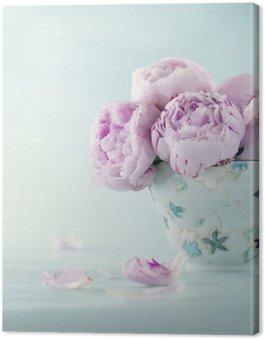 Tableau sur Toile Fleurs de pivoine rose