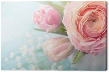 Tableau sur Toile Fleurs roses