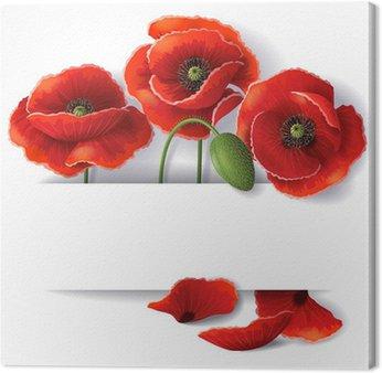 Tableau sur Toile Fleurs rouges coquelicot
