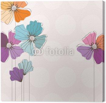 Tableau sur Toile Floral card