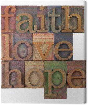 Tableau sur Toile Foi amour et espoir