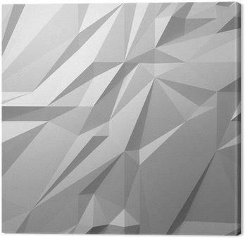 Tableau sur Toile Fond blanc abstrait low poly