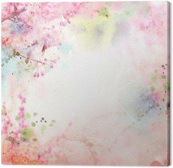 Tableau sur Toile Fond d'aquarelle Scenic, composition florale Sakura