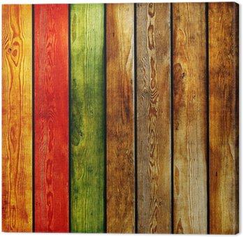 Tableau sur Toile Fond en bois de couleur des planches-abstrait