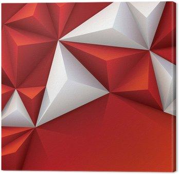 Tableau sur Toile Fond géométrique rouge et blanc.