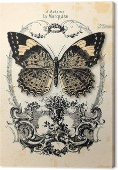 Tableau sur Toile Fond papillon