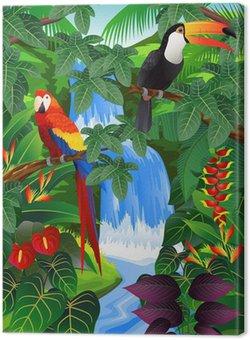 Tableau sur Toile Fond tropical Beauiful