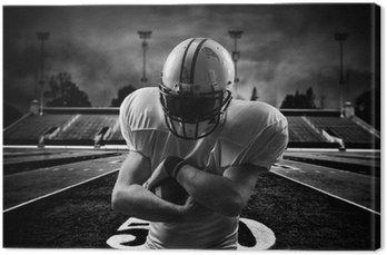 Tableau sur Toile Football américain Runningback <in action on stadium