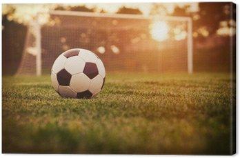 Tableau sur Toile Football coucher du soleil