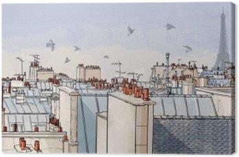 Tableau sur Toile France - les toits de Paris
