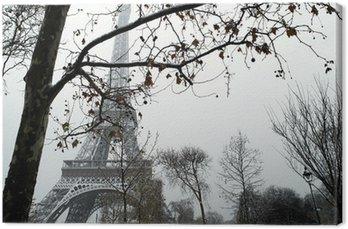 Tableau sur Toile France Paris Trocadéro sous la neige