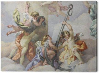 Tableau sur Toile Fresken, Karlskirche, Wien
