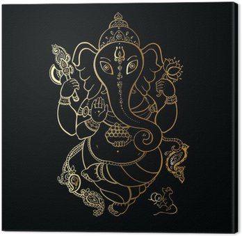 Tableau sur Toile Ganesha Illustration à main levée.