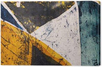 Tableau sur Toile Géométrie, batik à chaud, texture de fond, la main sur la soie, le surréalisme d'art abstrait