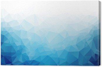 Tableau sur Toile Géométrique glace bleue texture de fond