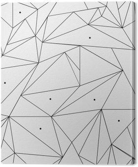 Tableau sur Toile Géométrique simple motif minimaliste noir et blanc, triangles ou vitrail. Peut être utilisé comme fond d'écran, de fond ou de texture.