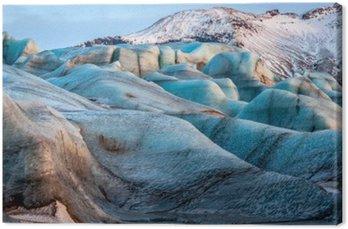 Tableau sur Toile Glacier Vatnajokull, en Islande, une partie du parc national de Vatnajokull. Panorama