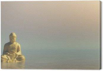 Tableau sur Toile Golden Buddha - Rendu 3D